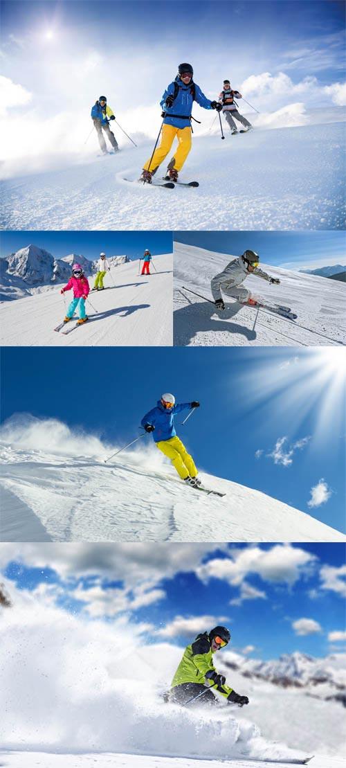 مجموعه 5 عکس اسکی روی برف 7000x4667