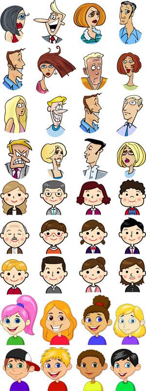 مجموعه المان کاراکتر کارتونی انسان AI و TIF