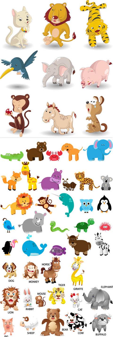 بیش از 50 کاراکتر حیوانات فانتزی AI و TIF