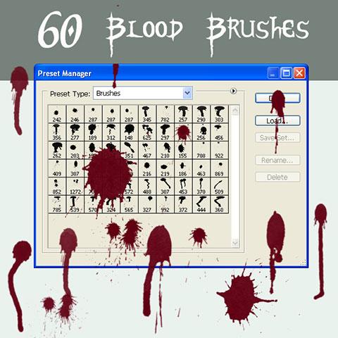مجموعه براش قطرات خون