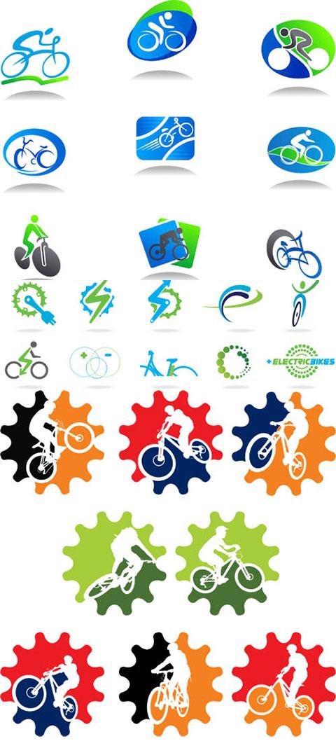 وکتور لوگو فروشگاه دوچرخه فروشی TIF و AI
