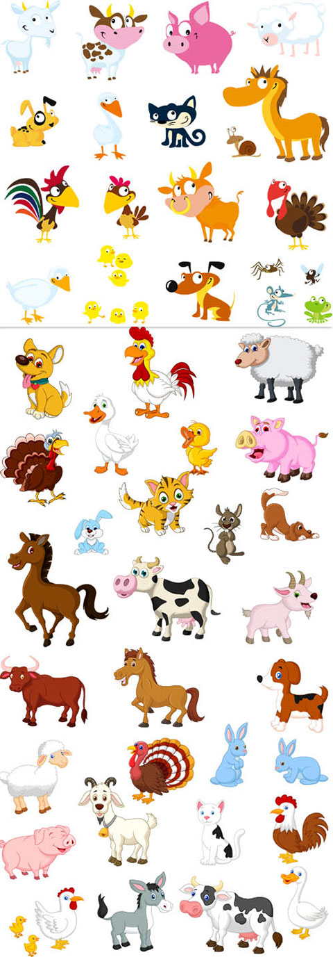 مجموعه حیوانات خانگی گرافیکی TIF و AI