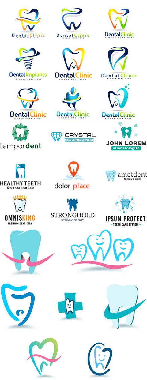 وکتور و لوگو دندانپزشکی AI و TIF